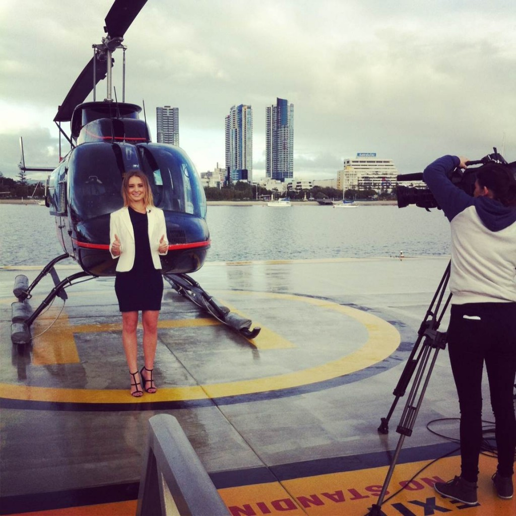 samantha with helicopter
