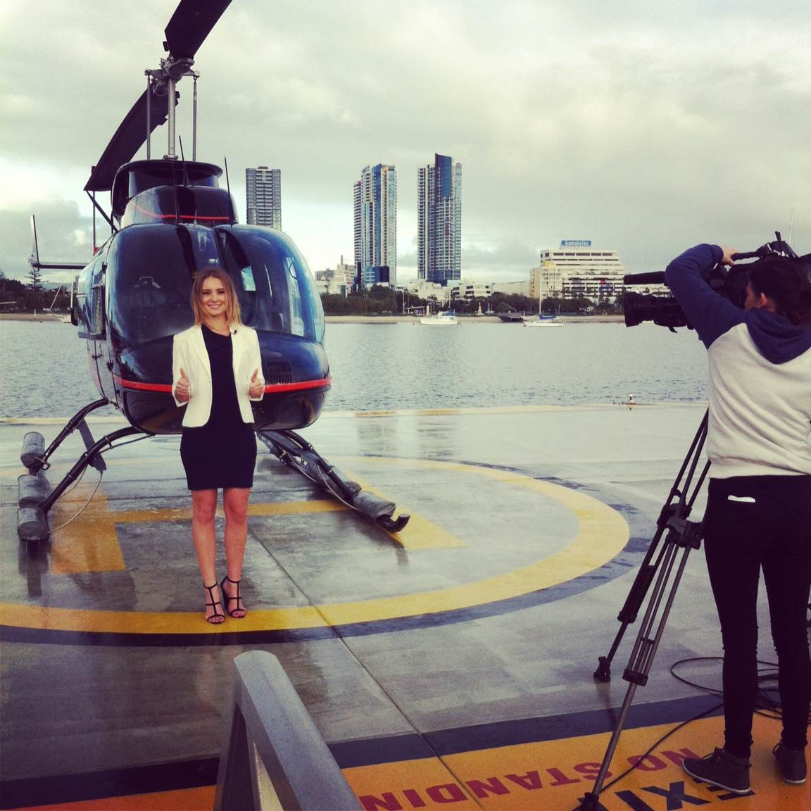 SAMANTHA DAVIES ON THE CHANNEL 9 TODAY SHOW